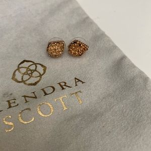 Kendra Scott Rose Gold Druzy Studs
